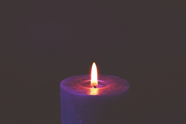 May Baydoun - Life Coach - Witch doctor purple candle